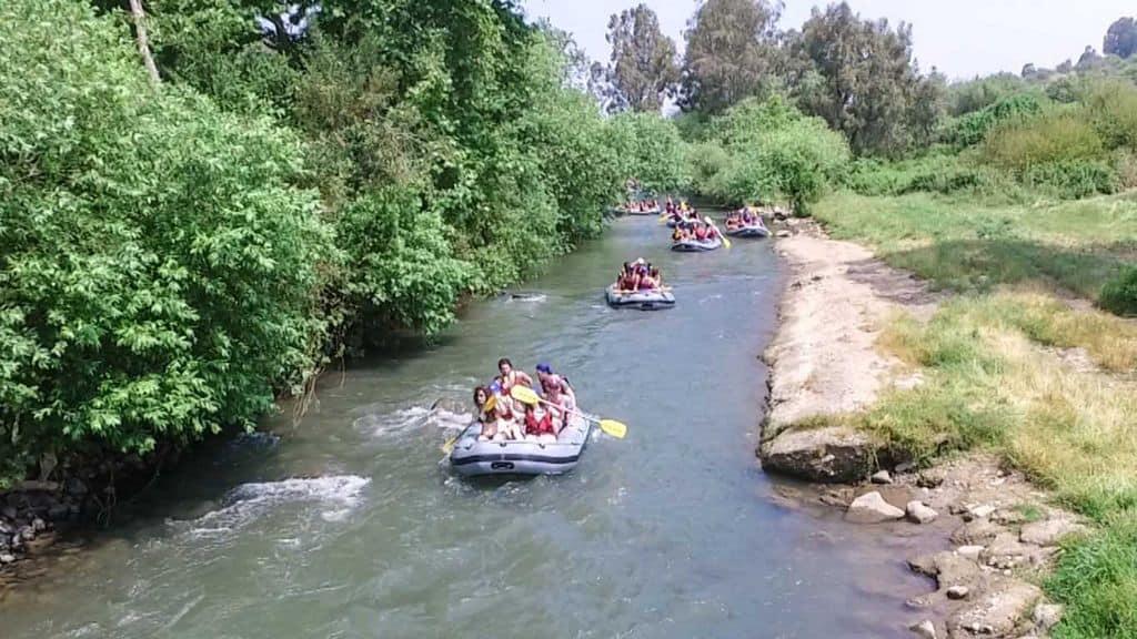 קייקים ברפטינג נהר הירדן